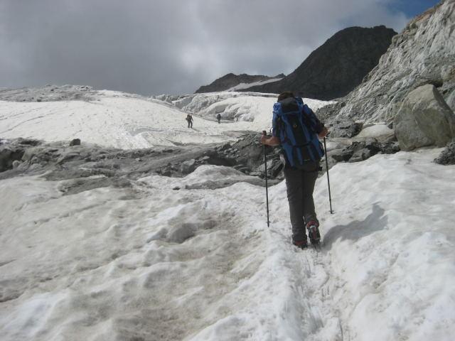Foto: Wolfgang Lauschensky / Wander Tour / Dom de Neige des Ecrins 4015m / Am Gletscherplateau in Richtung Refuge des Ecrins / 17.09.2009 21:34:20
