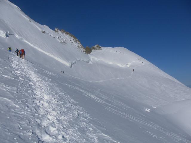 Foto: Wolfgang Lauschensky / Wander Tour / Dom de Neige des Ecrins 4015m / Gipfelanstieg zum Dom de Neige / 20.09.2014 15:40:57