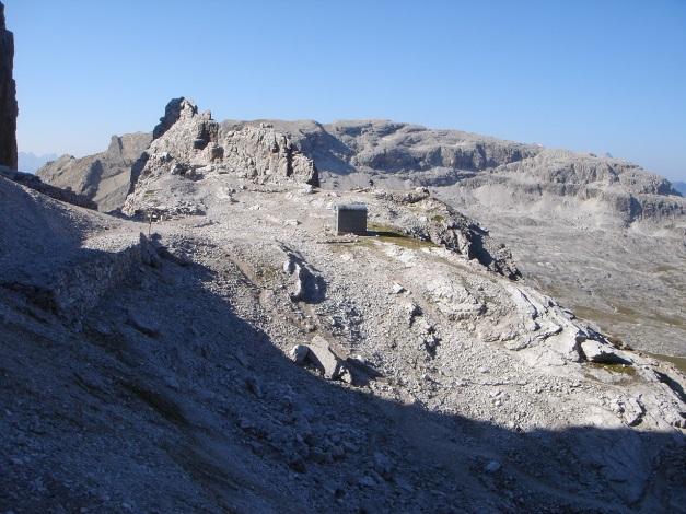 Foto: Manfred Karl / Klettersteig Tour / Tomaselli Klettersteig (Via ferrata Cesco Tomaselli) / Bivacco della Chiesa / 17.09.2009 22:23:04