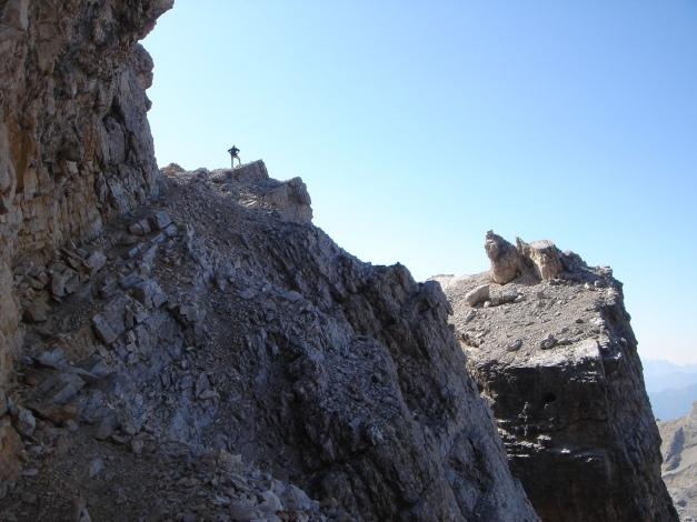 Foto: Manfred Karl / Klettersteig Tour / Tomaselli Klettersteig (Via ferrata Cesco Tomaselli) / Auf der Kanzel / 17.09.2009 22:19:38
