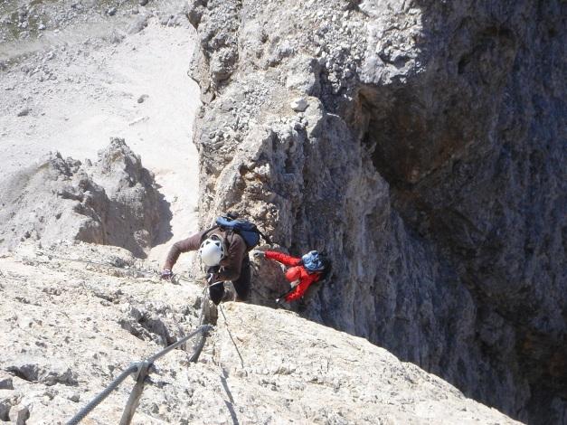 Foto: Manfred Karl / Klettersteig Tour / Tomaselli Klettersteig (Via ferrata Cesco Tomaselli) / 17.09.2009 22:17:24