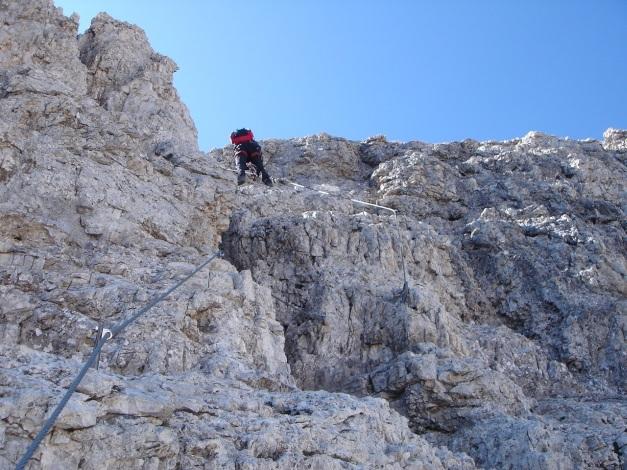 Foto: Manfred Karl / Klettersteig Tour / Tomaselli Klettersteig (Via ferrata Cesco Tomaselli) / Abstiegsklettersteig / 17.09.2009 22:15:02