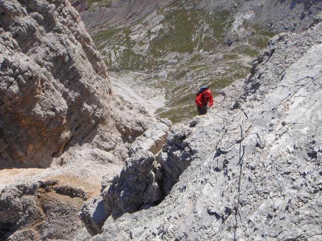 Foto: Manfred Karl / Klettersteig Tour / Tomaselli Klettersteig (Via ferrata Cesco Tomaselli) / 17.09.2009 22:14:08
