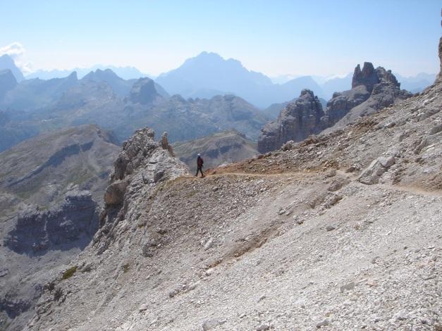 Foto: Manfred Karl / Klettersteig Tour / Tomaselli Klettersteig (Via ferrata Cesco Tomaselli) / Südlich der Selletta di Fanis / 17.09.2009 22:12:44