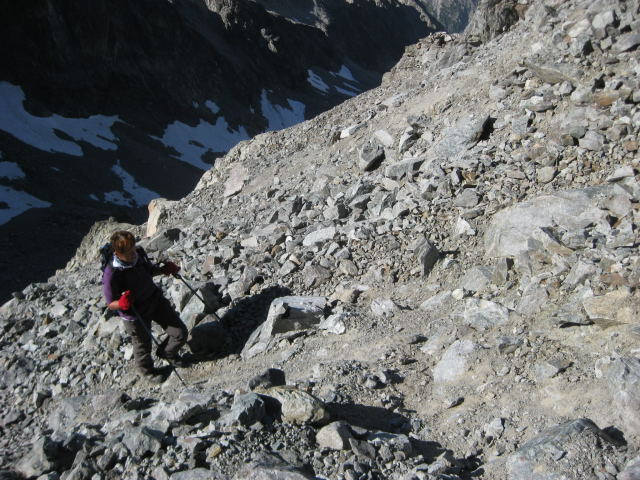 Foto: Wolfgang Lauschensky / Wander Tour / Montagne des Agneaux 3664m / unangenehmer Schuttanstieg / 18.09.2009 01:06:21