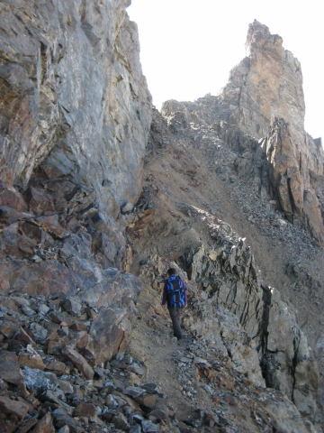 Foto: Wolfgang Lauschensky / Wander Tour / Montagne des Agneaux 3664m / am Col du Monetier / 18.09.2009 01:06:03