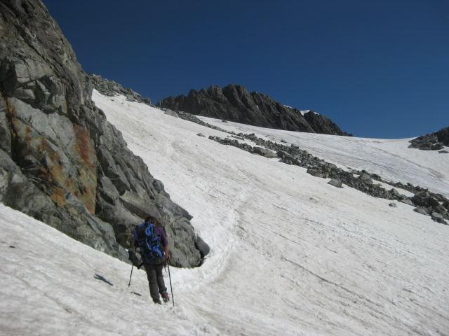 Foto: Wolfgang Lauschensky / Wander Tour / Montagne des Agneaux 3664m / über Glacier du Casset zum Montagne des Agneaux / 18.09.2009 01:05:50