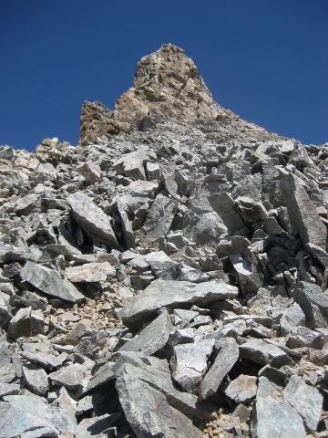 Foto: Wolfgang Lauschensky / Wander Tour / Montagne des Agneaux 3664m / Gipfelflanke (I-II) des Montagne des Agneaux  / 18.09.2009 01:05:15