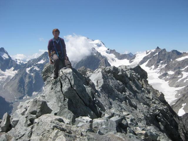 Foto: Wolfgang Lauschensky / Wander Tour / Montagne des Agneaux 3664m / Gipfelblick zum Dom de Neige / 18.09.2009 01:05:04