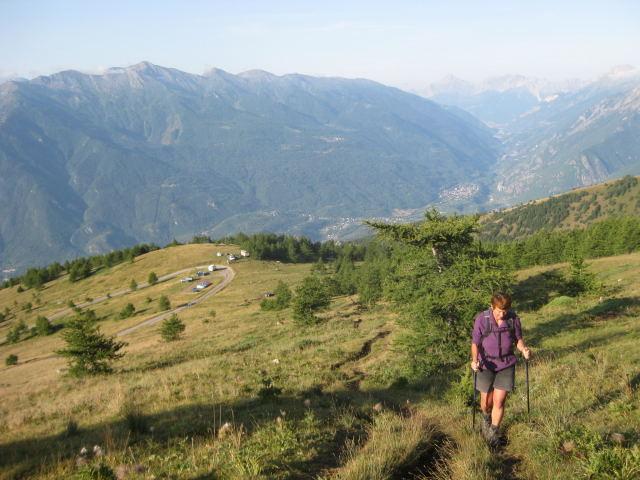 Foto: Wolfgang Lauschensky / Wander Tour / Rocciamelone 3538m / Blick ins Susatal / 18.09.2009 18:51:25
