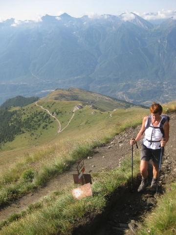 Foto: Wolfgang Lauschensky / Wander Tour / Rocciamelone 3538m / die Wege sind erodiert und ausgewaschen, aber einfach zu erwandern / 18.09.2009 18:51:15