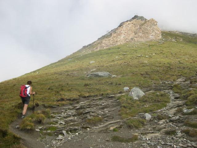 Foto: Wolfgang Lauschensky / Wander Tour / Rocciamelone 3538m / Südrücken vor dem Rif. Ca d'Asti / 18.09.2009 18:51:05