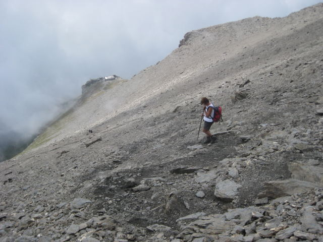 Foto: Wolfgang Lauschensky / Wander Tour / Rocciamelone 3538m / Rifugio Ca d'Asti von oben / 18.09.2009 18:50:54