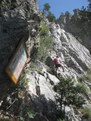 Foto: Wolfgang Lauschensky / Klettersteig Tour / Croix de Toulouse / Einstiegswand / 18.09.2009 22:48:14