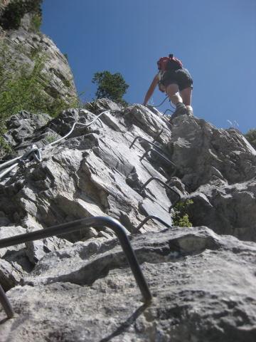 Foto: Wolfgang Lauschensky / Klettersteig Tour / Croix de Toulouse / steil, aber unschwierig / 18.09.2009 22:47:59