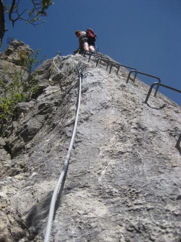 Foto: Wolfgang Lauschensky / Klettersteig Tour / Croix de Toulouse / gut gesicherte Kante / 18.09.2009 22:47:38