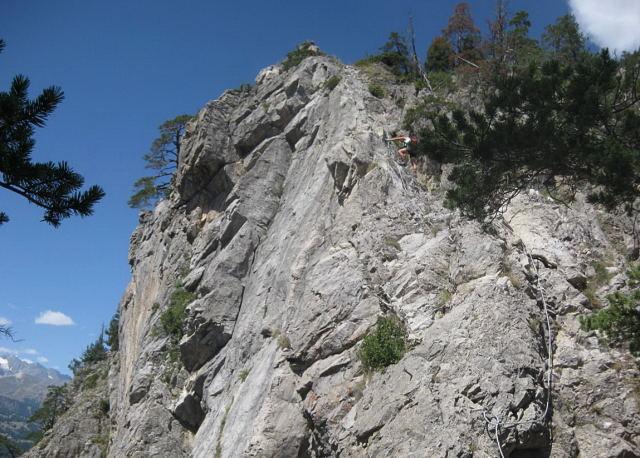 Foto: Wolfgang Lauschensky / Klettersteig Tour / Croix de Toulouse / exponiertes Finale / 18.09.2009 22:46:46