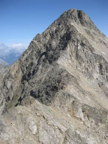 Foto: Wolfgang Lauschensky / Wander Tour / Piz Ot (3246m) / Südgrat vom Piz da la Funtauna aus gesehen / 18.09.2009 23:35:49