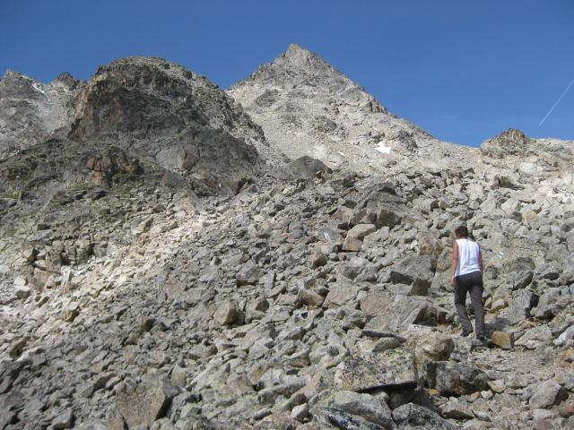 Foto: Wolfgang Lauschensky / Wander Tour / Piz Ot (3246m) / Ostflanke des Piz Ot / 18.09.2009 23:35:41