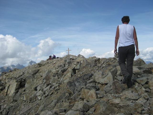 Foto: Wolfgang Lauschensky / Wander Tour / Piz Ot (3246m) / Gipfelabflachung / 18.09.2009 23:35:29