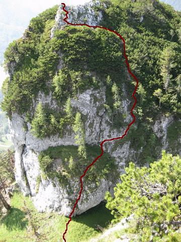 Foto: Wolfgang Lauschensky / Wander Tour / Kleiner Sparber 1488m / Anstieg auf den Kleinen Sparber / 05.11.2010 15:17:44