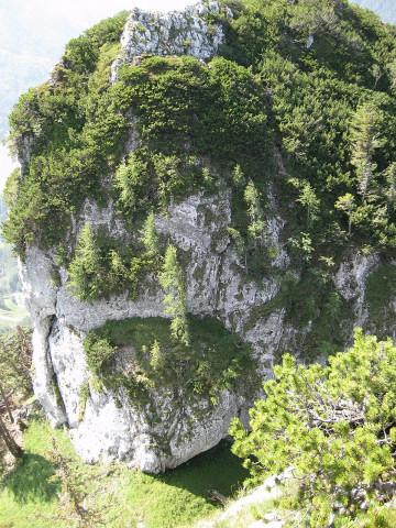 Foto: Wolfgang Lauschensky / Wander Tour / Kleiner Sparber 1488m / Blick vom Großen auf den Kleinen / 05.11.2010 15:16:42