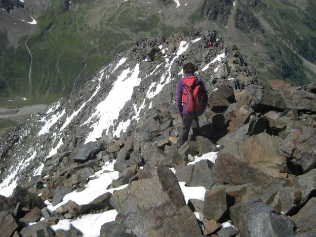 Foto: Wolfgang Lauschensky / Wander Tour / Schrankogel - Überschreitung / am oberen Südwestgrat / 19.09.2009 13:48:21