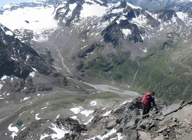 Foto: Wolfgang Lauschensky / Wander Tour / Schrankogel - Überschreitung / blockiger Abstieg zum Hohen Egg / 19.09.2009 13:48:11
