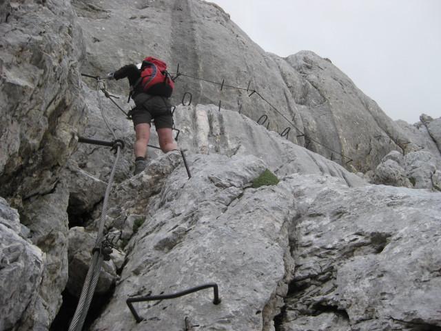 Foto: Wolfgang Lauschensky / Wander Tour / Skrlatica 2740m / wenige Meter Seil und Klammern / 20.09.2009 21:29:33