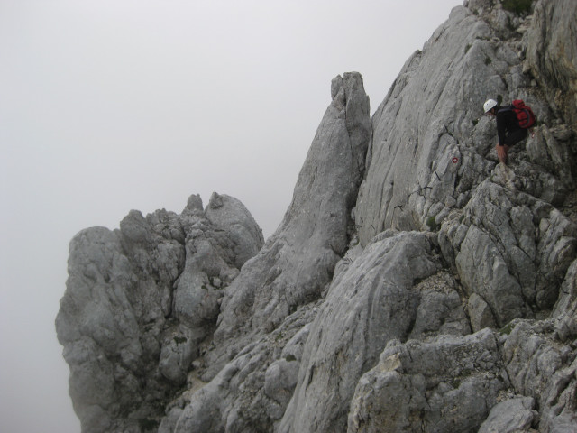 Foto: Wolfgang Lauschensky / Wander Tour / Skrlatica 2740m / ausgesetzter zapfengesicherter Abstieg / 20.09.2009 21:28:21