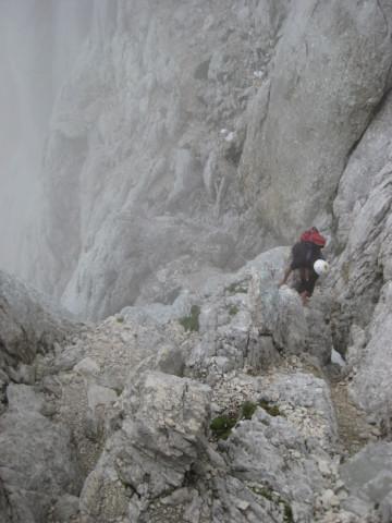 Foto: Wolfgang Lauschensky / Wander Tour / Skrlatica 2740m / die letzten Meter zum Kar / 20.09.2009 21:28:09