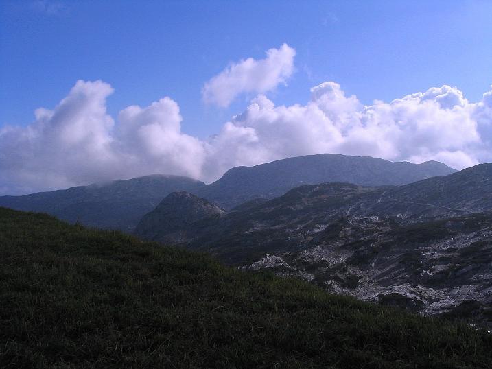 Foto: Andreas Koller / Klettersteig Tour / Kuckucksnest Klettersteig am Krippenstein (2108m) / Blick nach SO / 21.09.2009 02:02:27