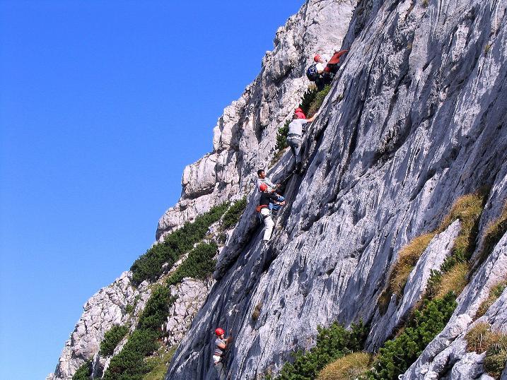 Foto: Andreas Koller / Klettersteig Tour / Kuckucksnest Klettersteig am Krippenstein (2108m) / 21.09.2009 02:02:04