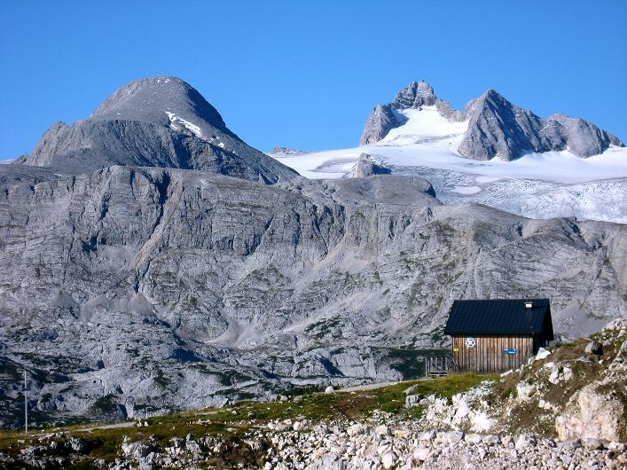 Foto: Andreas Koller / Klettersteig Tour / Monisteig am Schöberl (2426m) / Hoher Dachstein (2996 m) und Hallstätter Gletscher / 26.09.2009 00:09:17