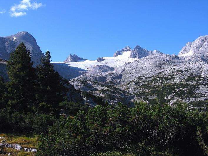 Foto: Andreas Koller / Klettersteig Tour / Monisteig am Schöberl (2426m) / Blick zum Dachstein (2996 m) / 26.09.2009 00:06:30