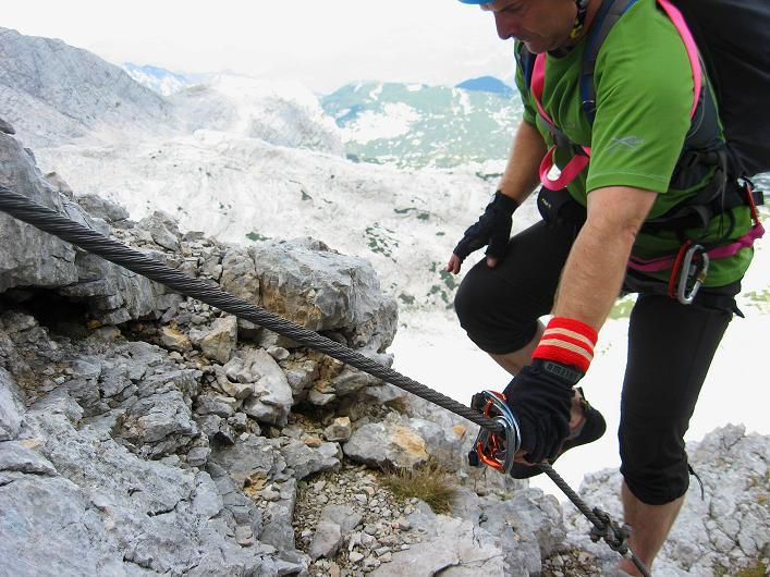 Foto: Andreas Koller / Klettersteig Tour / Monisteig am Schöberl (2426m) / 25.09.2009 23:58:58