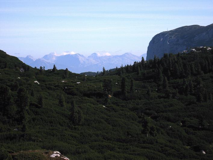 Foto: Andreas Koller / Klettersteig Tour / Via Steinbock am Schöberl (2426m) / Blick zum Toten Gebirge / 26.09.2009 00:25:39
