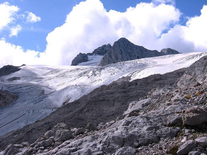 Foto: Andreas Koller / Klettersteig Tour / Via Steinbock am Schöberl (2426m) / Hallstätter Gletscher und Dachstein (2996 m) / 26.09.2009 00:21:08