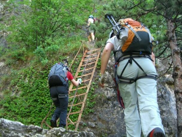 Foto: winsch / Klettersteig Tour / Via ferr. Burrone Giovanelli / Leiternvariante neuer Einstieg / 21.09.2009 17:43:58