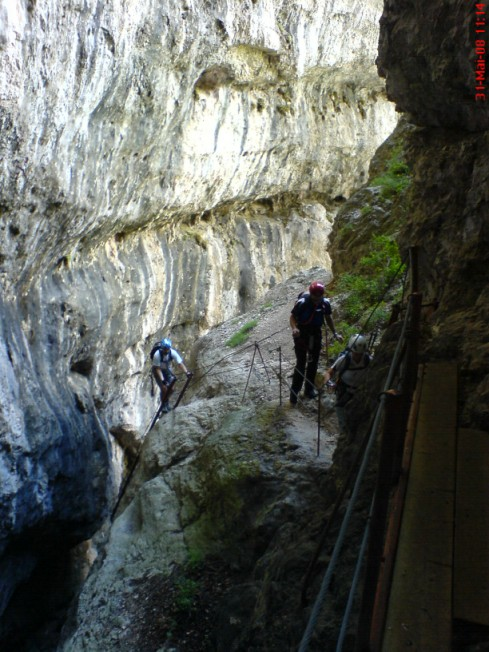 Foto: winsch / Klettersteig Tour / Via ferr. Burrone Giovanelli / Quergang / 21.09.2009 17:44:40