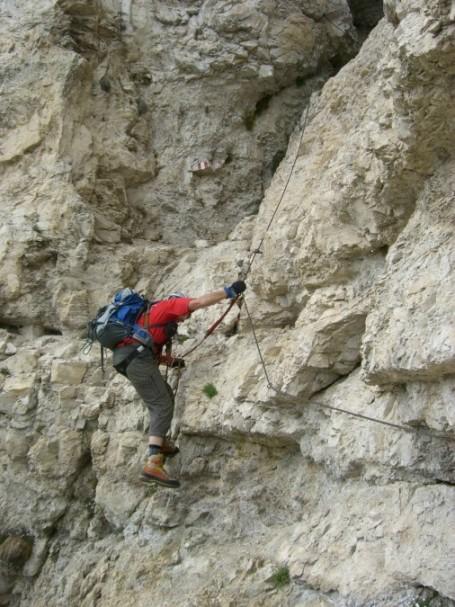 Foto: winsch / Klettersteig Tour / Fennberg Klettersteig / kurz vor dem Wandbuch / 21.09.2009 18:29:31