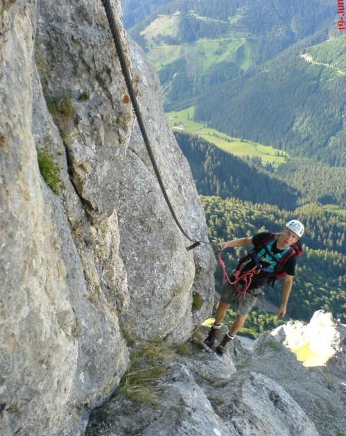 Foto: winsch / Klettersteig Tour / Kaiserschild Klettersteig / im Mittelteil / 22.09.2009 16:41:57