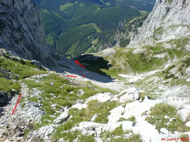Foto: winsch / Klettersteig Tour / Kaiserschild Klettersteig / Abstieg / 22.09.2009 16:42:36