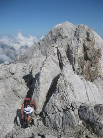 Foto: Wolfgang Lauschensky / Wander Tour / Grießner Hochbrett 2470m / kurz vor dem Gipfel / 23.09.2009 21:20:31