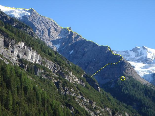 Foto: Manfred Karl / Wander Tour / Ortler über den Meranerweg / Meranerweg, im Kreis: Berglhütte / 24.09.2009 21:01:51