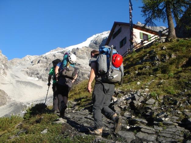 Foto: Manfred Karl / Wander Tour / Ortler über den Meranerweg / Berglhütte / 24.09.2009 21:01:22