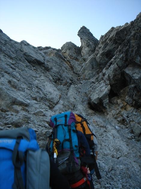 Foto: Manfred Karl / Wander Tour / Ortler über den Meranerweg / Steilaufschwung im mittleren Teil / 24.09.2009 20:56:58