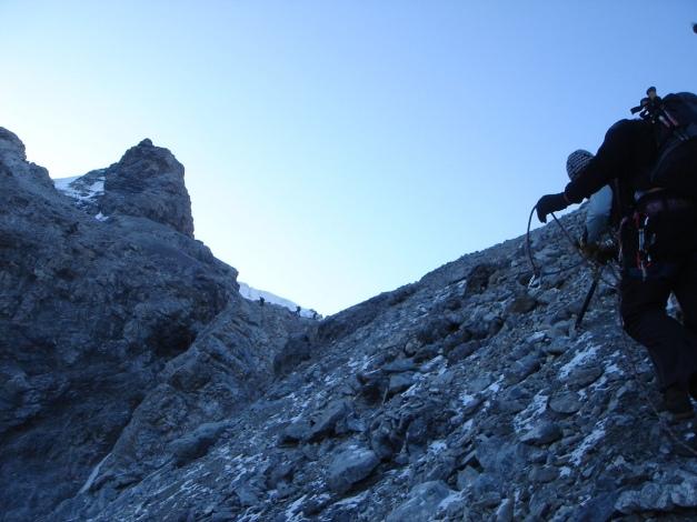 Foto: Manfred Karl / Wander Tour / Ortler über den Meranerweg / Kurz unterhalb des Pleißhornes / 24.09.2009 20:54:37