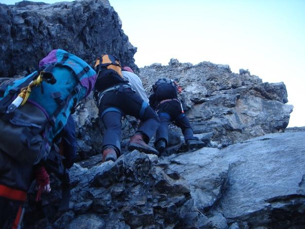 Foto: Manfred Karl / Wander Tour / Ortler über den Meranerweg / Anstieg über die Leiter / 24.09.2009 20:52:23