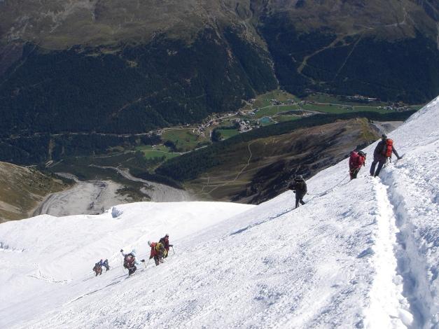 Foto: Manfred Karl / Wander Tour / Ortler über den Meranerweg / Abstieg oberhalb vom Tschirfeck / 24.09.2009 20:45:20